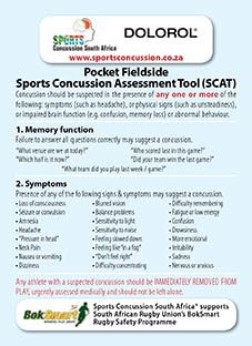 Concussion Pocket Card